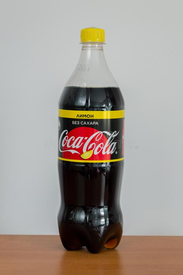koka-kola zero cytryny cukrowy smak od Białoruś zdjęcia royalty free