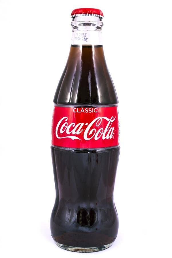 Koka-koli butelka obrazy royalty free