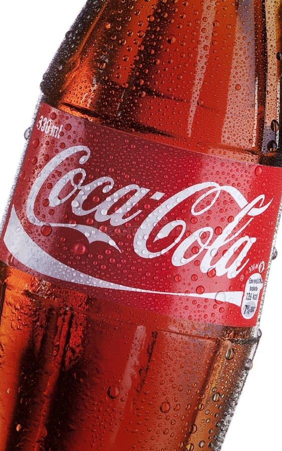 Koka-koli butelka - szczegół fotografia royalty free