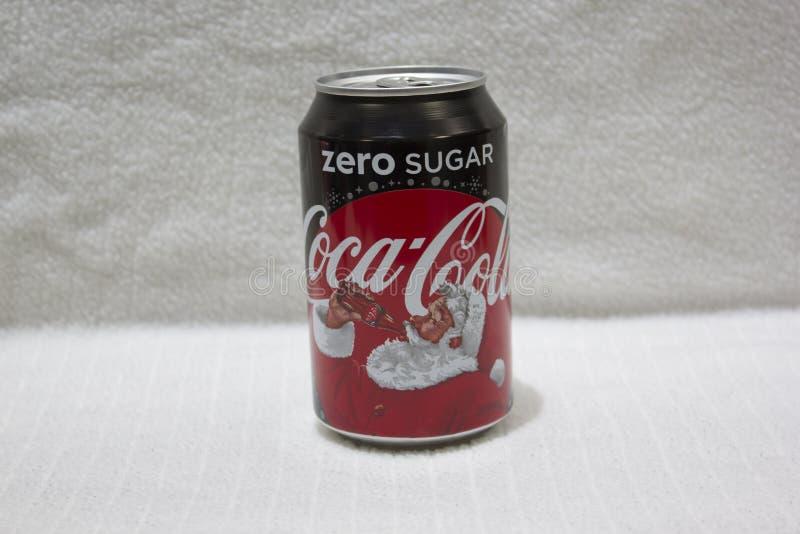 Koka-koli puszka zdjęcie stock
