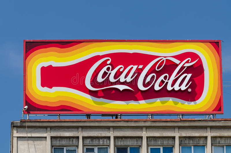 Koka-koli reklama obraz stock