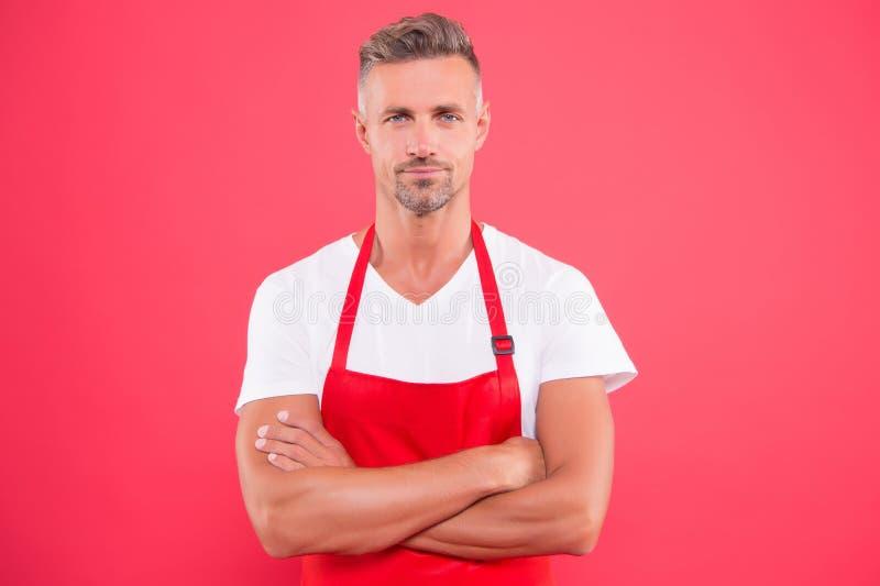 Koka sunt sätt Hushållsmästare Göra hushåll Matlagning i hemmet Grill-fest Kompetent och trygg Cook arkivfoton