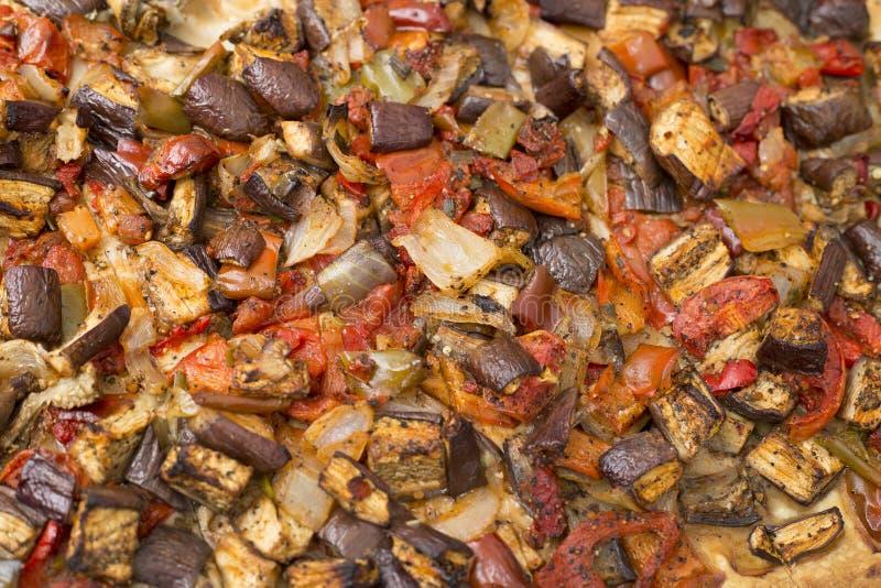 Koka traditionellen Aubergine Mallorcan-Lebensmittels stockfotos