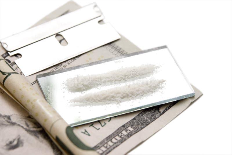 kokain linie lustro fotografia royalty free