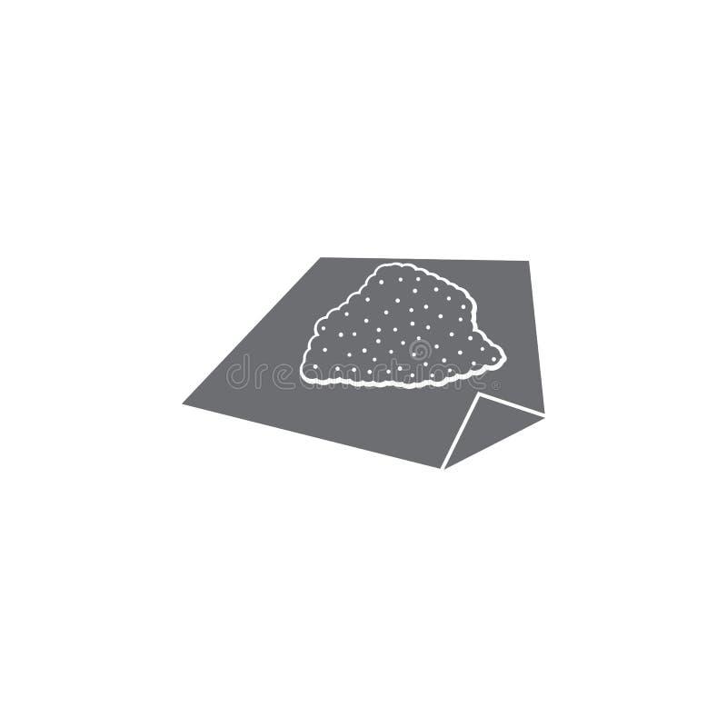 kokainsymbol Enkel beståndsdelillustration mall för kokainsymboldesign Kan användas för rengöringsduk och mobil vektor illustrationer