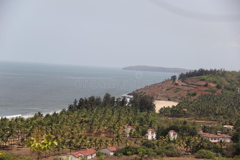 Kokan - θάλασσα με την περιοχή βουνών στοκ εικόνα με δικαίωμα ελεύθερης χρήσης