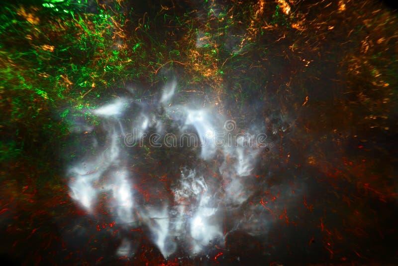 Kokande vatten som färgas med ljus royaltyfri illustrationer