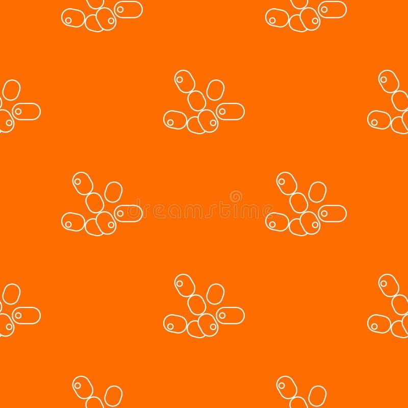 Kokbacillen patroon vectorsinaasappel royalty-vrije illustratie