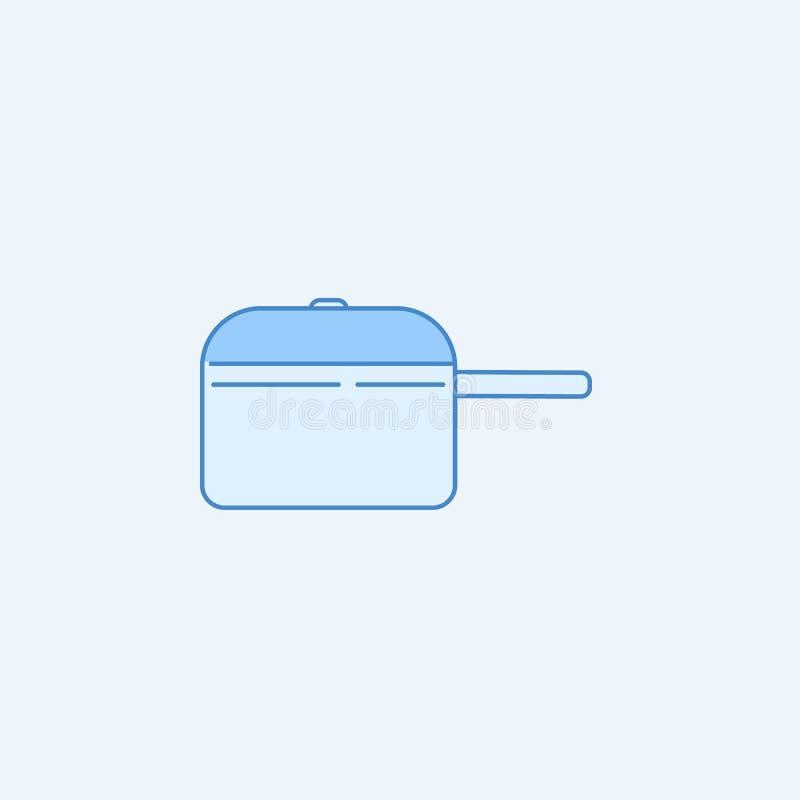 kokend pan 2 rassenbarrièrepictogram Eenvoudige blauwe en witte elementenillustratie het koken het panontwerp van de conceptenove vector illustratie