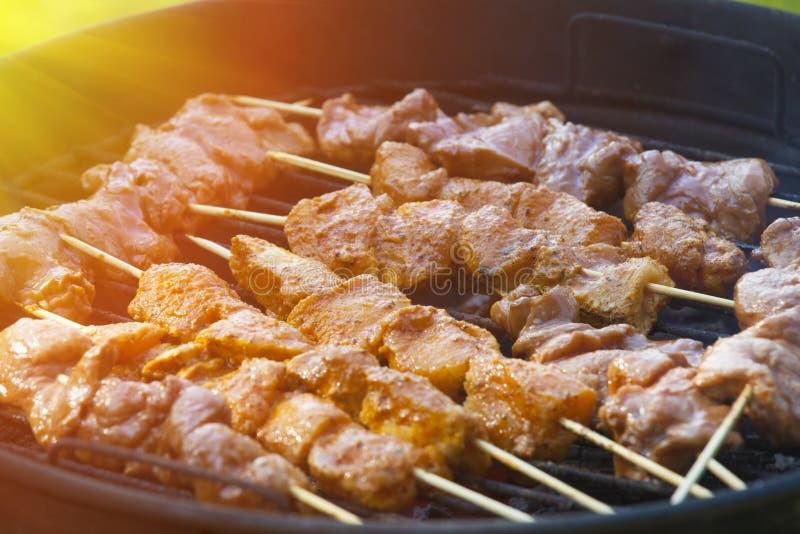 Kokend vlees royalty-vrije stock foto