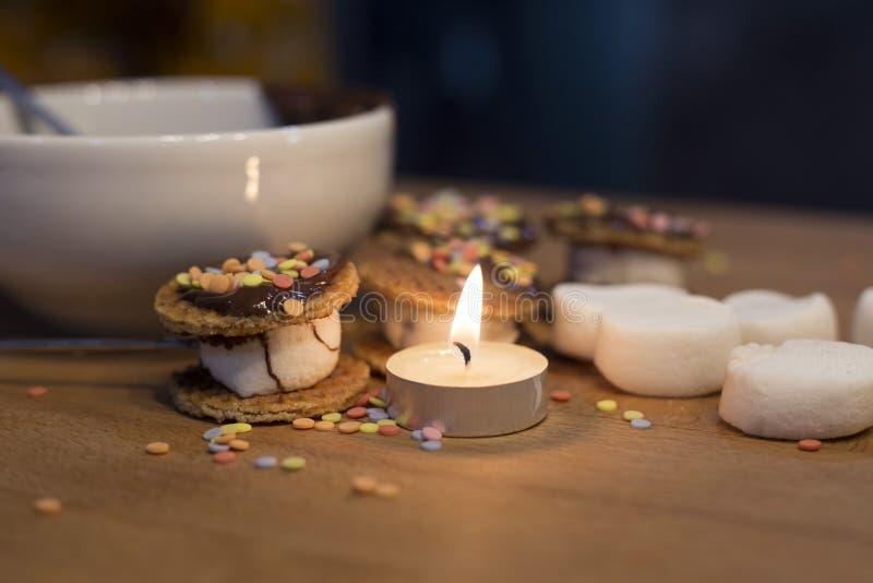 Kokende bakkerij van bakkerij van maïsmeelpap de zachte koekjes royalty-vrije stock foto