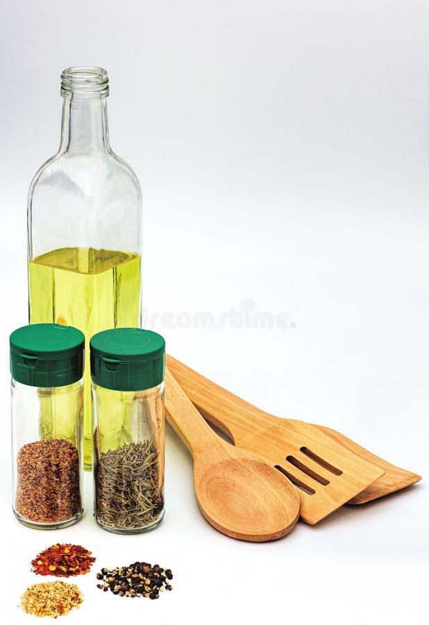 Download Kokende Ingrediënten En Werktuigen Stock Foto - Afbeelding bestaande uit spatel, organisch: 39111408