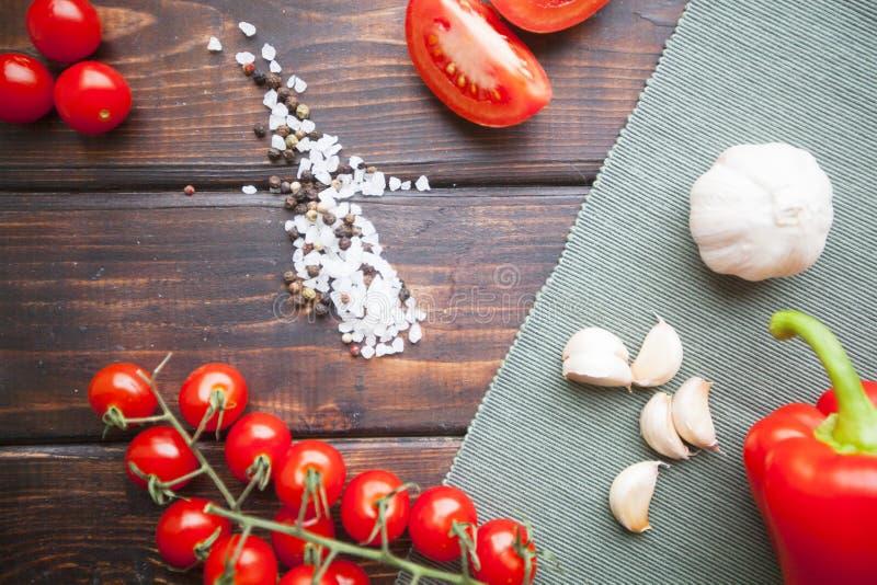 Kokende vegetarische maaltijd royalty-vrije stock foto's