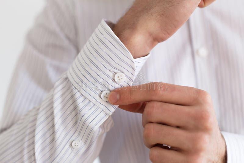 Koker van een wit overhemd royalty-vrije stock afbeeldingen