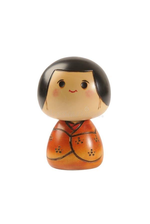 Download Kokeshi doll stock photo. Image of wooden, doll, orange - 4625900