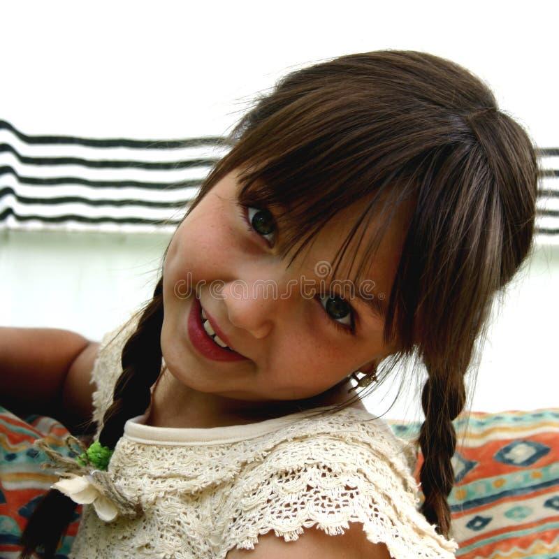 kokett flicka fotografering för bildbyråer
