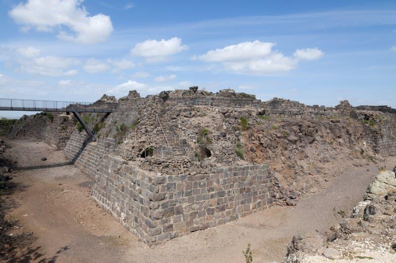 Kokhav haYarden, крепость Belvoir стоковые изображения rf
