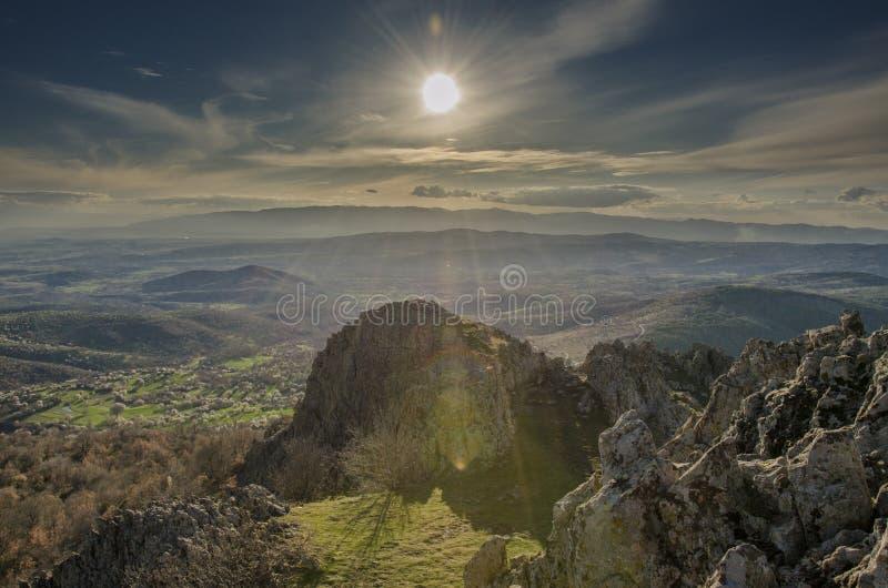 Kokino古老观测所在马其顿 免版税库存图片