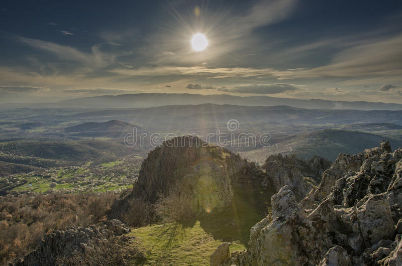 Kokino Ancient Observatory in Macedonia. Kokino is the fourth oldest astronomical observatory in the world, located on the territory of Municipality Staro royalty free stock images