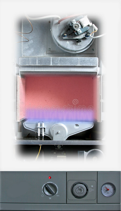 kokkärlcentralvärme arkivbilder