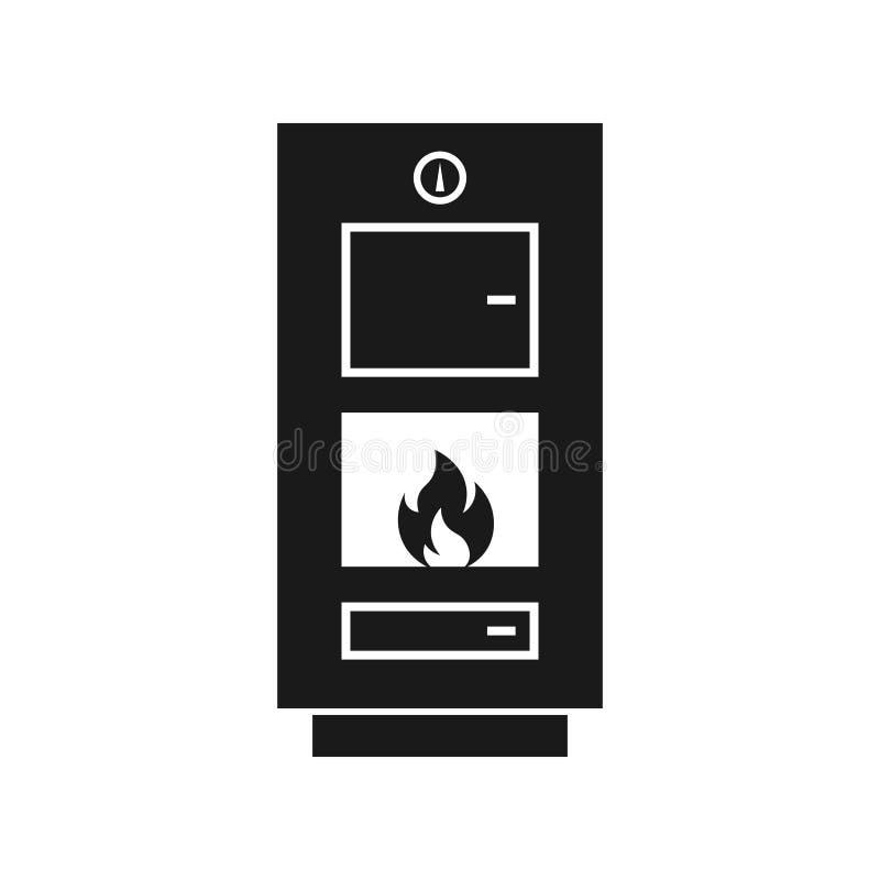 Kokkärlsymbol för fast bränsle royaltyfri illustrationer