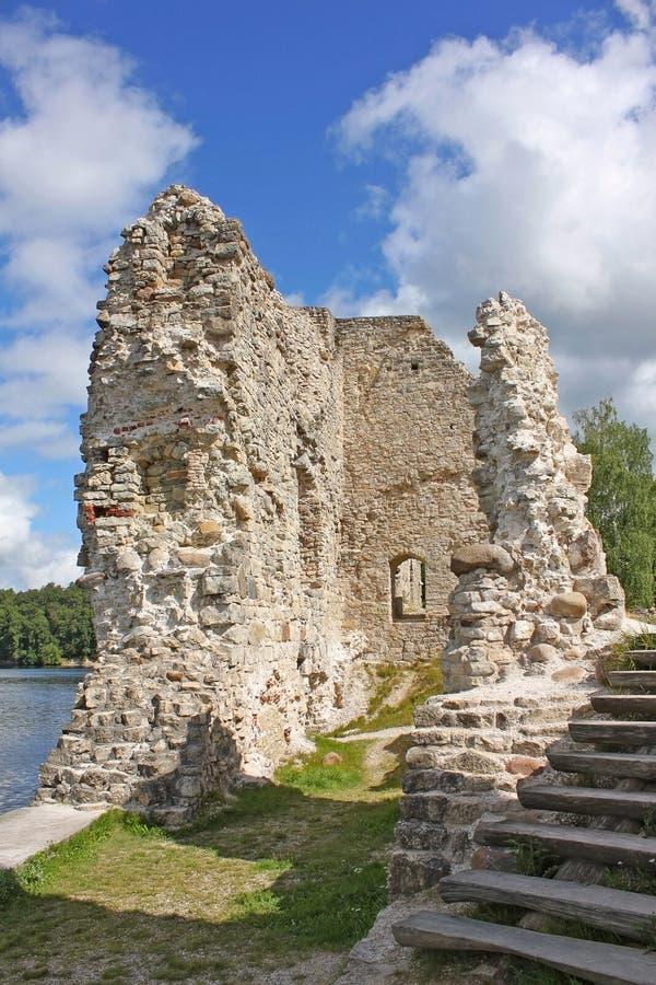 Koknese城堡在拉脱维亚 库存图片