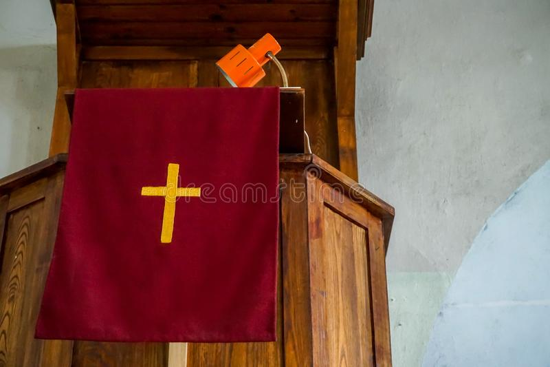 Koknese的福音派信义会教堂 库存图片