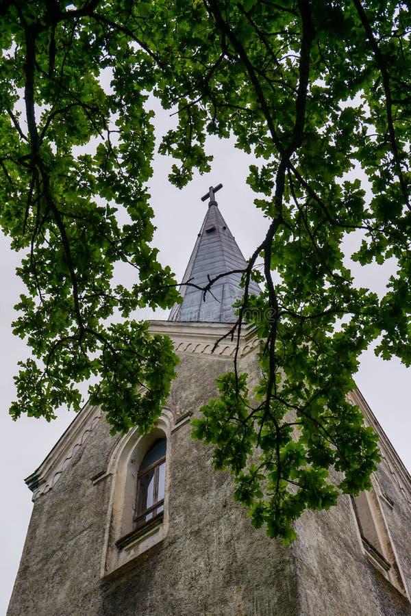 Koknese Ewangelicki Luterański kościół w Latvia obraz royalty free