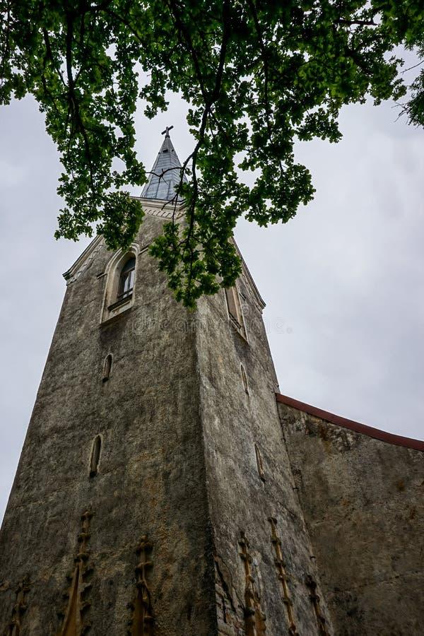 Koknese Ewangelicki Luterański kościół w Latvia zdjęcie royalty free