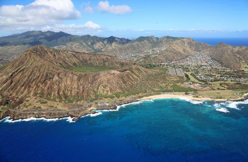 Koko krater i Piaskowata plaża obrazy royalty free