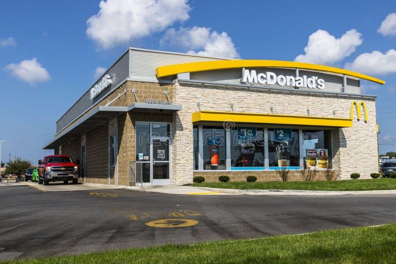 Kokomo - circa agosto 2017: Posizione del ristorante del ` s di McDonald Il ` s di McDonald è una catena dei ristoranti dell'hamb immagini stock