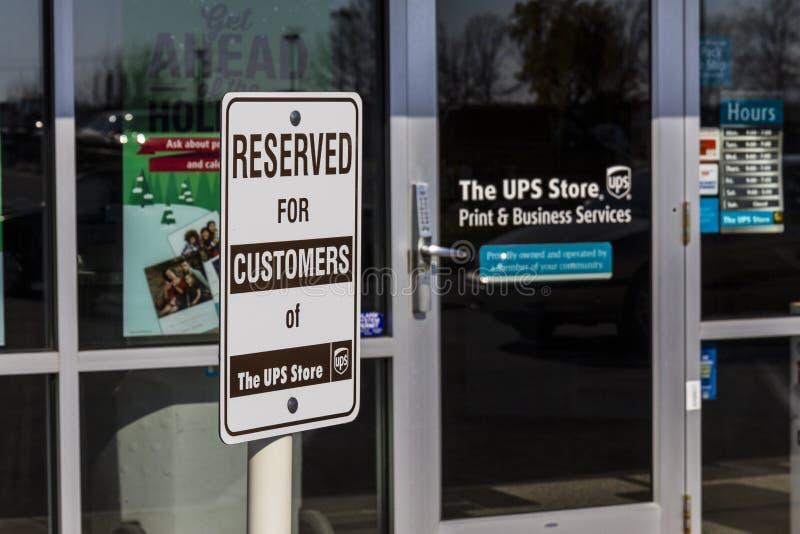 Kokomo - circa im November 2016: UPS-Geschäftsstandort UPS ist das Welt-` s Largest Package Delivery Company I lizenzfreie stockfotos