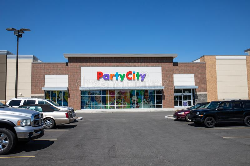 Party City Retail Strip Mall Location. Party City Provides Costumes and Supplies All Year Long II. Kokomo - Circa July 2019: Party City Retail Strip Mall royalty free stock photos