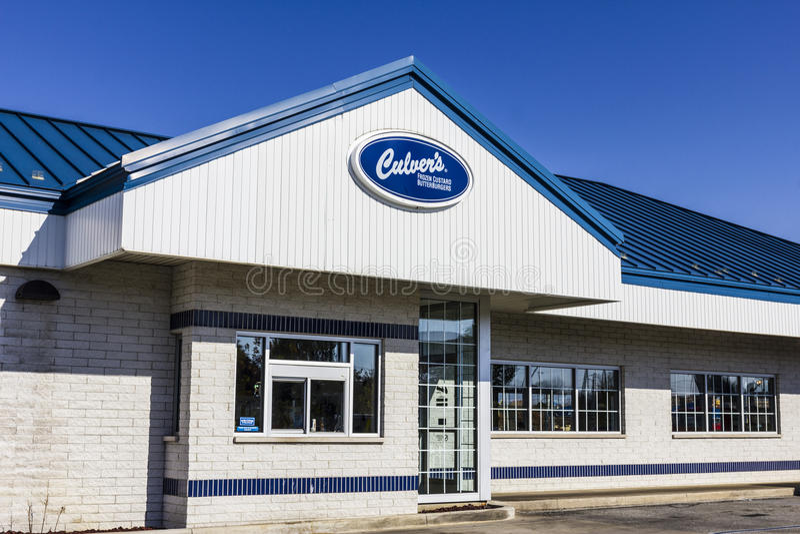Kokomo - Circa November 2016: Culver`s Fast Casual Location. Culver`s is Famous for their Butterburgers and Frozen Custard III. Culver`s Fast Casual Location royalty free stock photos