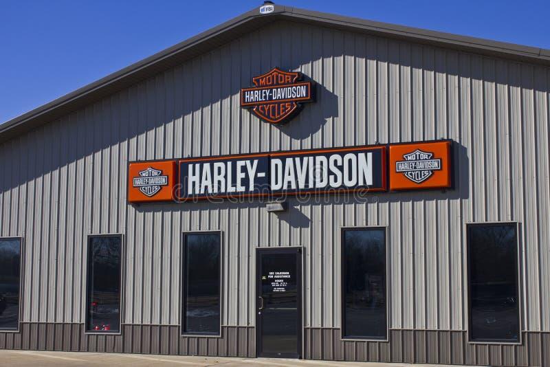 Kokomo, DEDANS - vers en février 2016 : Harley-Davidson Motorcycle Dealership I photographie stock libre de droits