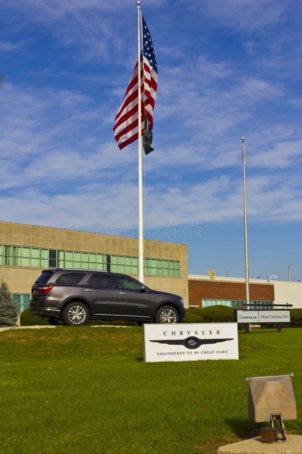 Kokomo - vers en novembre 2015 : Usine de transmission de Chrysler Les automobiles de Fiat Chrysler est le septième-plus grand co photos libres de droits
