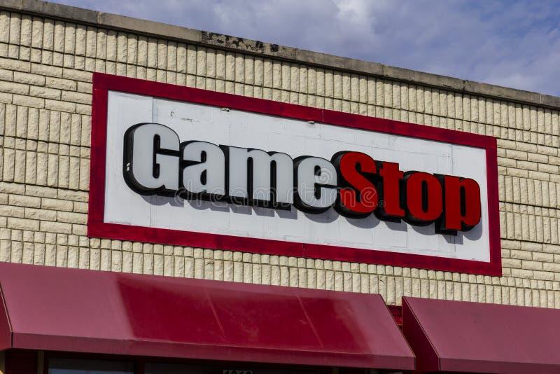 Kokomo - vers en octobre 2016 : Emplacement de devis de GameStop GameStop est un détaillant de jeu vidéo et d'électronique II photos stock