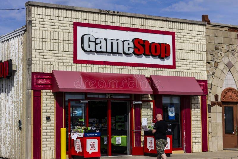 Kokomo - vers en octobre 2016 : Emplacement de devis de GameStop GameStop est un détaillant de jeu vidéo et d'électronique III photo stock