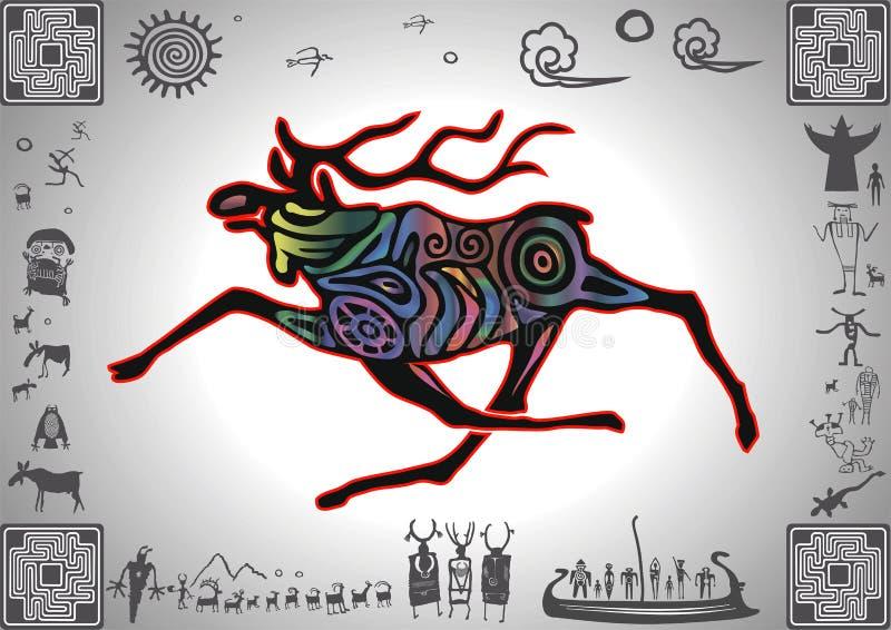 Kokopelli łuny łoś ilustracji