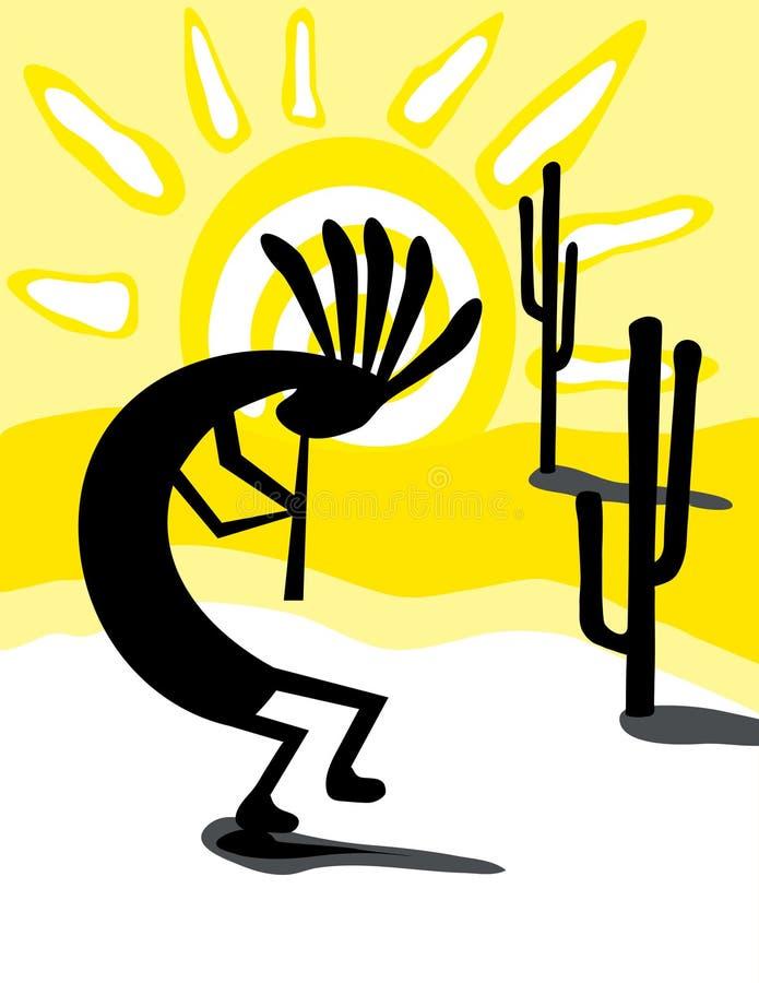 kokopelli desert ilustracji