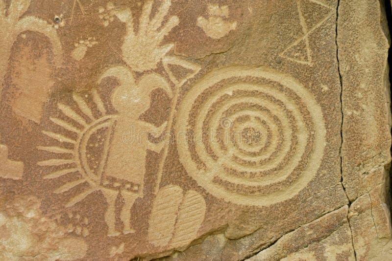 Kokopelli Petroglif ilustracja wektor