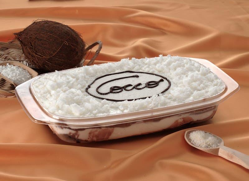 Kokoskaka italienskt recept royaltyfri foto