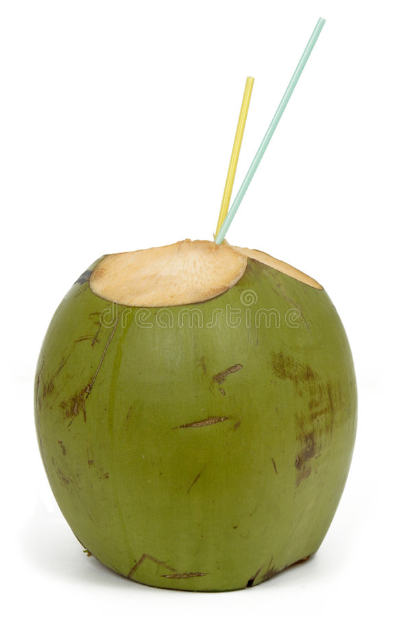 kokosnötdrinkvatten royaltyfria foton