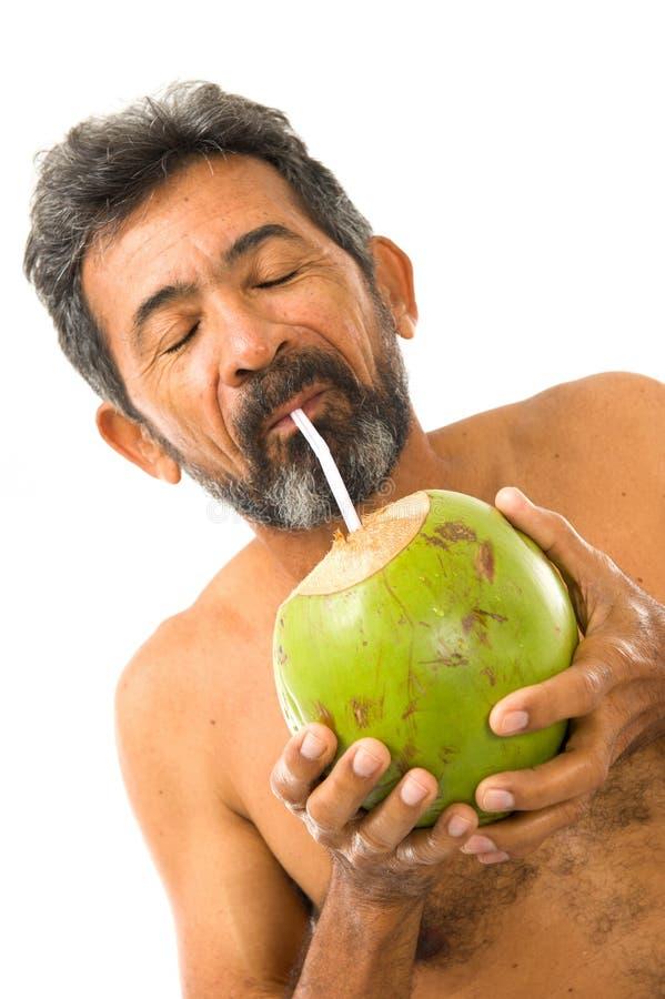 kokosnötdrinkvatten royaltyfri bild