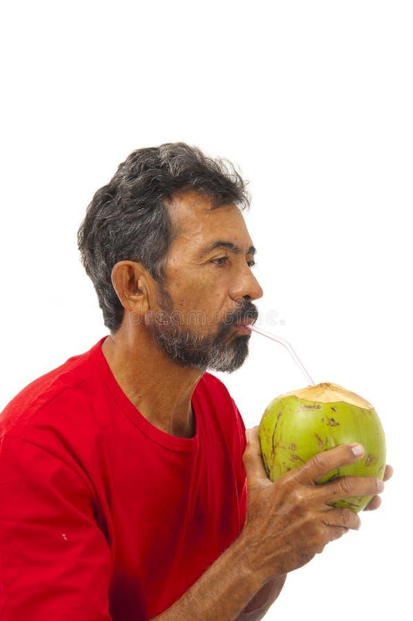 kokosnötdrinkvatten arkivfoton