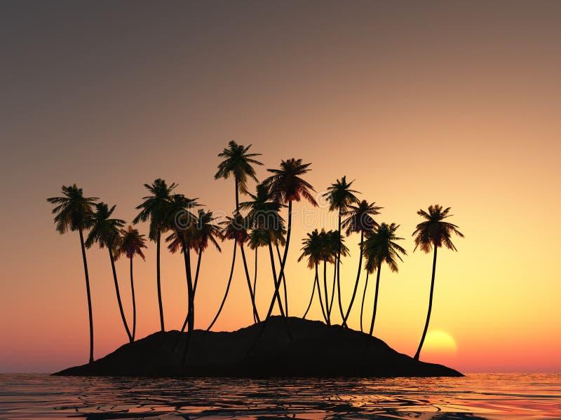 kokosnöten gömma i handflatan vektor illustrationer