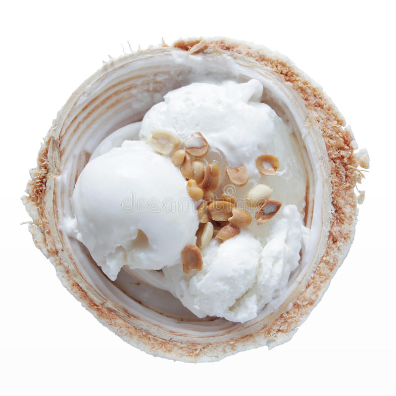 Kokosnötglass royaltyfri bild