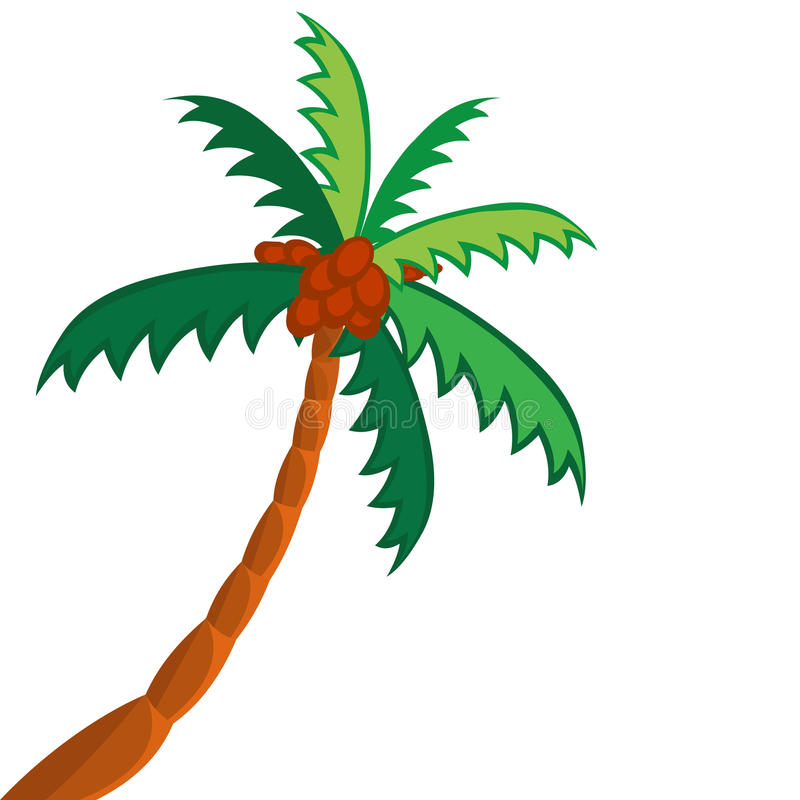 Kokosnötpalmträd stock illustrationer