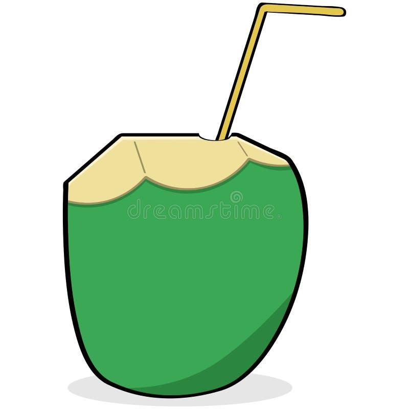 Kokosnötvatten royaltyfri illustrationer