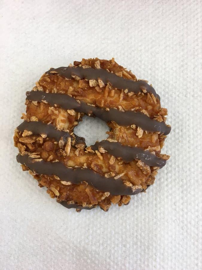 Kokosnoot en Caramel Fudge Cookie stock fotografie